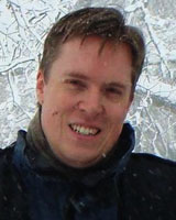 Portrait image of Rob Harper outdoors in the winter