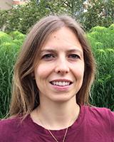 Portrait image of Christelle Fischer-Bovet outdoors