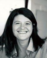 Black and White portrait image of Jessica Keating