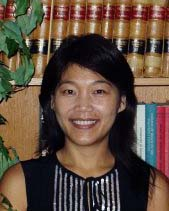 Portrait image of Cindy I-Fen Cheng in front of bookcase