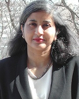 Portrait image of Aparna Dharwadker outdoors
