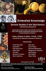 """image of poster for """"embodied knowledge"""" conference"""