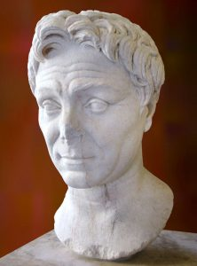 Portrait Bust of Pompey the Great in the Louvre Museum