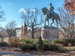 Color photo of the Robert E. Lee Monument in Charlottesville
