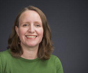 Portrait image of Jennifer Keefe wearing a green shirt