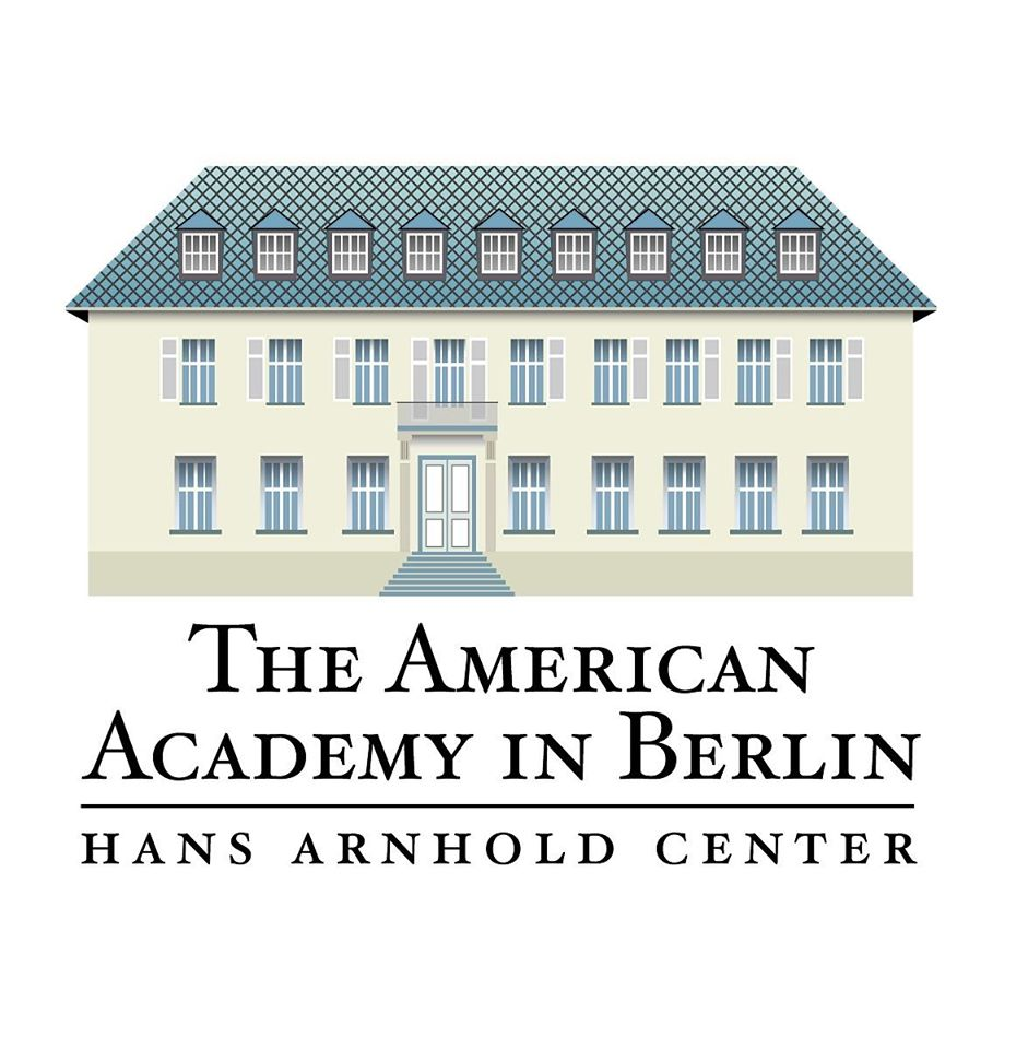 logo of the American Academy in Berlin with diagram of a house on a white background