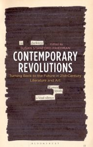 "cover of book ""Contemporary revolutions..."" with black out marker on top of text that has been redacted."